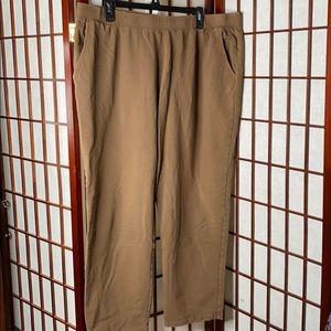 Light brown denim&co straight leg pant